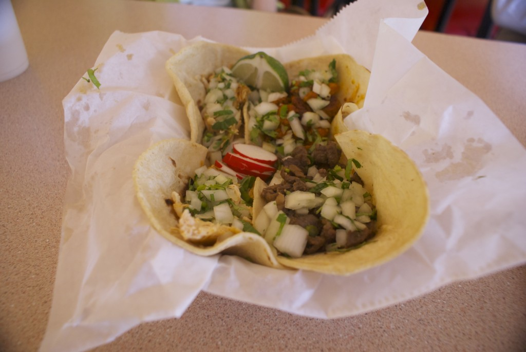 A variety of tacos