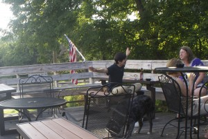 Hanging out on the deck